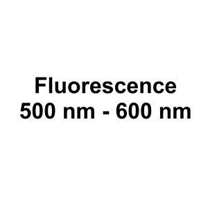 Fluorescence: 500 nm - 600 nm