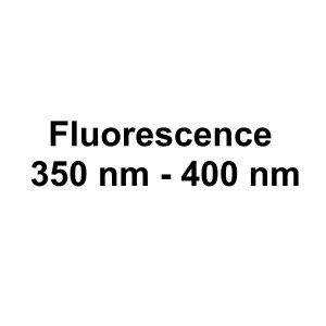 Fluorescence: 350 nm - 400 nm