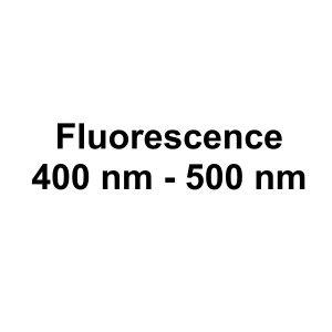 Fluorescence: 400 nm - 500 nm